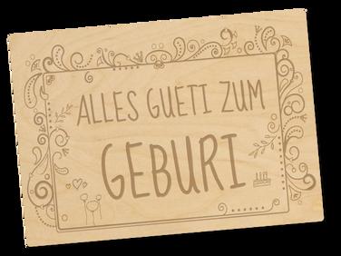 Holzpostkarte «geburi»