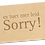 Thumbnail: SORRY