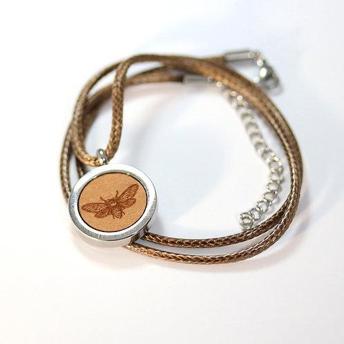 Biene Halskette mit Birnenholz