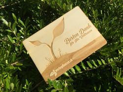 Holzpostkarte Werbepflanzen