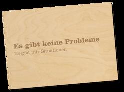 Holzpostkarte «keine probleme»