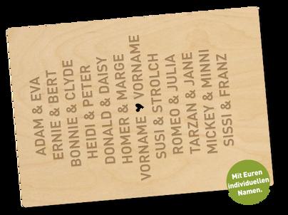 Holzpostkarte «du und ich»
