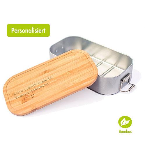 GESTOHLEN - Lunchbox mit Bambusdeckel
