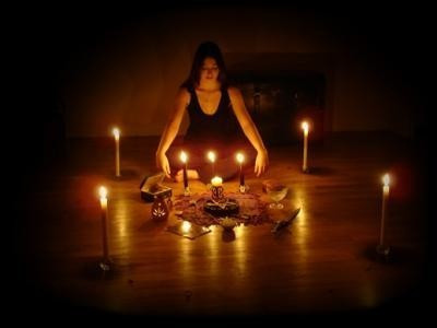 Wiccan Witches Ritual Helping to Raise Power