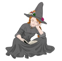 Young Witch Reading
