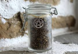 A Witches Jar of Herbs