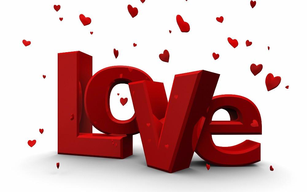 love with raining hearts