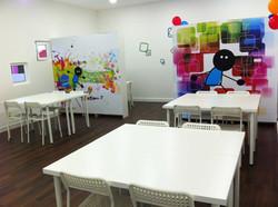 sala de estudo e de aniversários