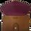 Thumbnail: TRAVEL WALLET, cognac purple