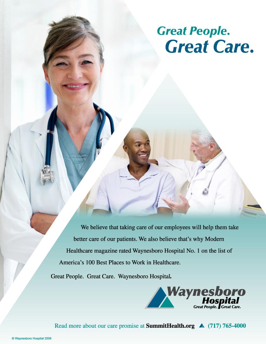 Waynesboro Hospital Print Ad