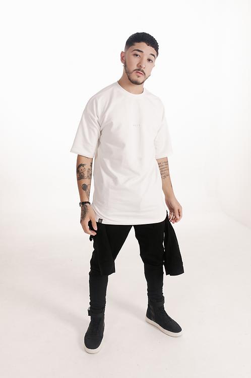 Camiseta Alongada Off white