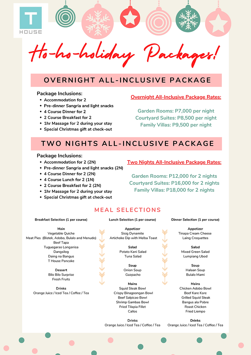 Christmas All-Inclusive Packages Messeng