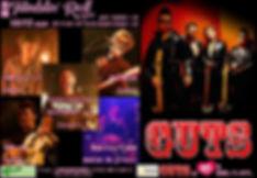高槻 Tumblin' Roll ACT4 10/15 sun OP 17:30 / ST 18:30 【 出演 】 GUTS 仲村 鷹比呂バンド 草場 一登バンド