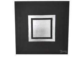 Tableau noir feuille argent 3D