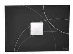 Tableau noir et argent XXL
