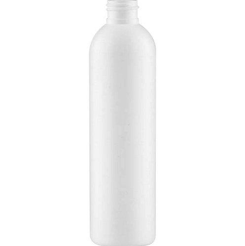 8 oz 24-410 White Cosmo Globe HDPE Bottle
