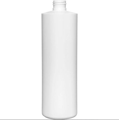 16 oz 28-410 White Cylinder HDPE Bottle
