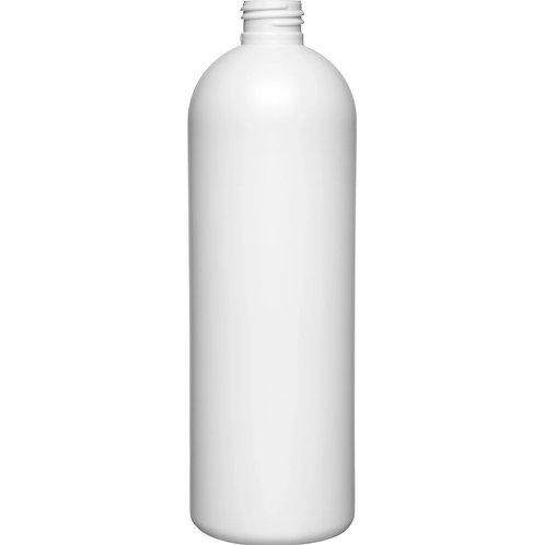 16 oz 24-410 White Cosmo Globe HDPE Bottle
