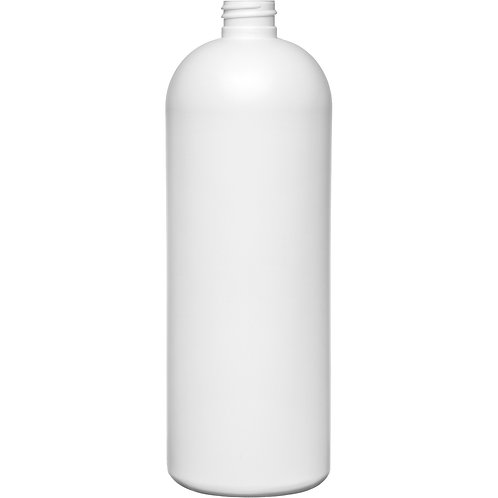 32 oz 28-410 White Cosmo Globe HDPE Bottle