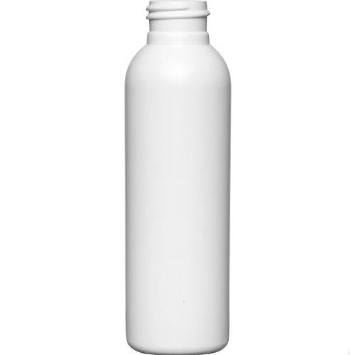 4 oz 24-410 White Cosmo Globe HDPE Bottle