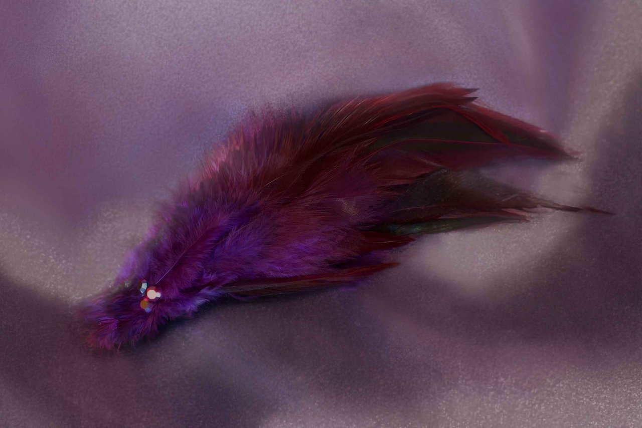 $20 Mini Feather Fascinator -VioletAvailable in a Variety of Shapes and Colours.