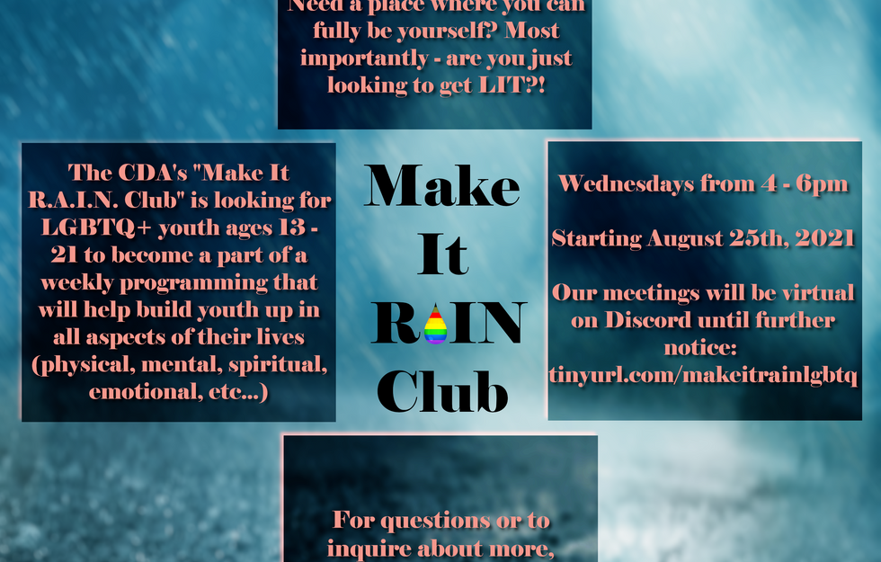 CDA New and Improved LGBTQ+ Support Group