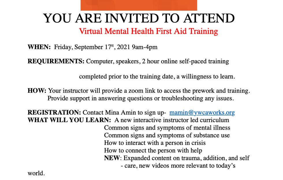Virtual mental health Training