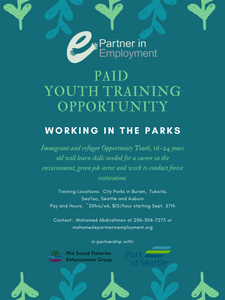 Paid Summer Youth Training Opportunity