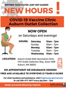 New Hours for Auburn Clinic