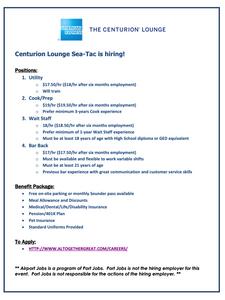 The Centurion Lounge