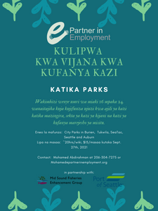 Paid Summer Youth Training Opportunity Swahili