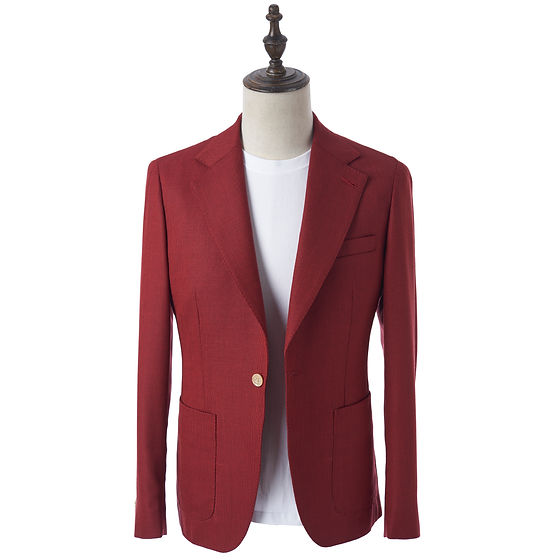 Holland & Sherry Red mesh off the rack blazer by Not Yet made
