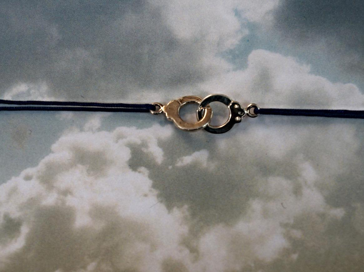 Handcuffs silver charm