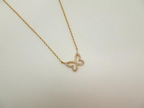 Shiny Butterfly Necklace