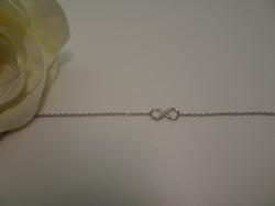 Bracelet chain shiny infinity silver