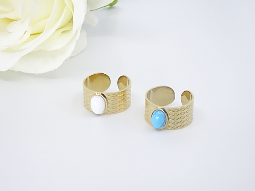 Boho gold ring
