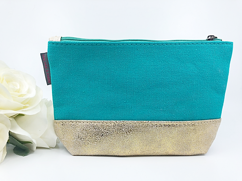 Turquoise & gold Purse