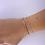 Thumbnail: Silver circle lucky charm bracelet