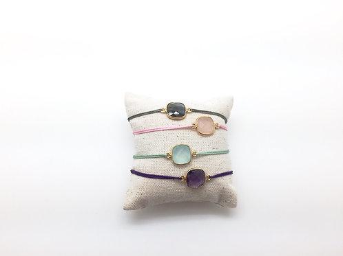 Semi precious Lucky charm Bracelet