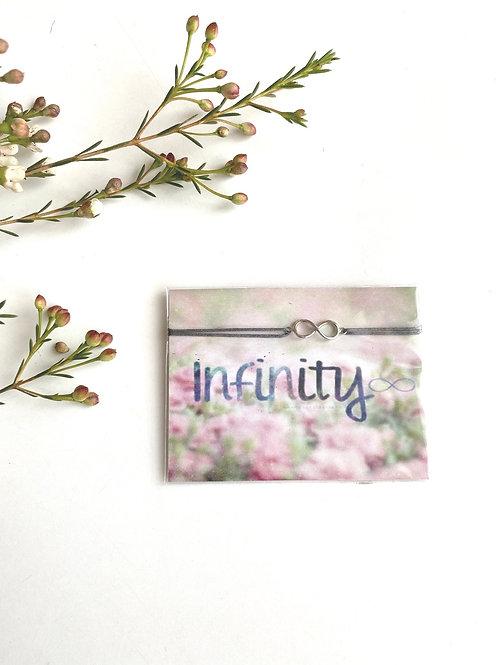 Silver infinity charm bracelet