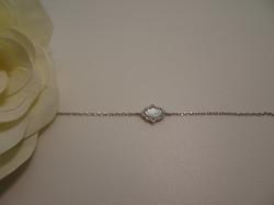 Bracelet Chain Hamsa pearl silver