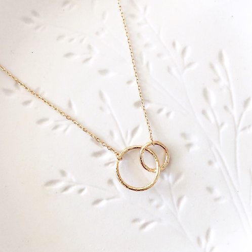 Toi & Moi Necklace (hammered)