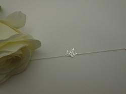 Bracelet Chain  Origamis bird silver2