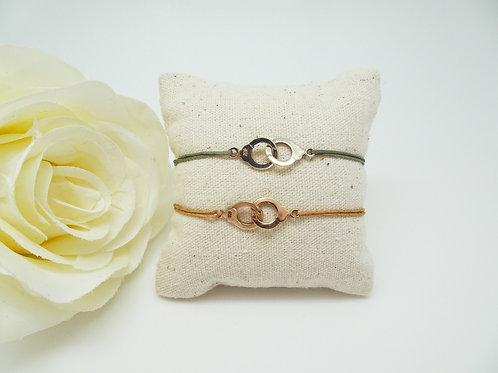 Hand Cuffs Lucky Charm Bracelet