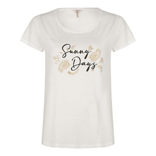 T-shirt met opschrift Sunny days Esqualo