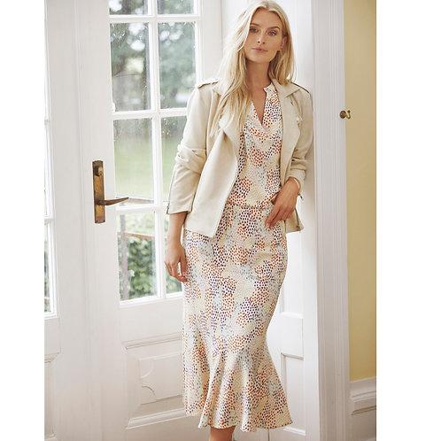 Lange rok met print in pastelkleuren Peppercorn