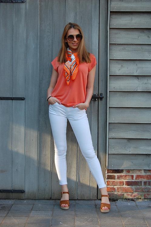 Witte jeans Toxik
