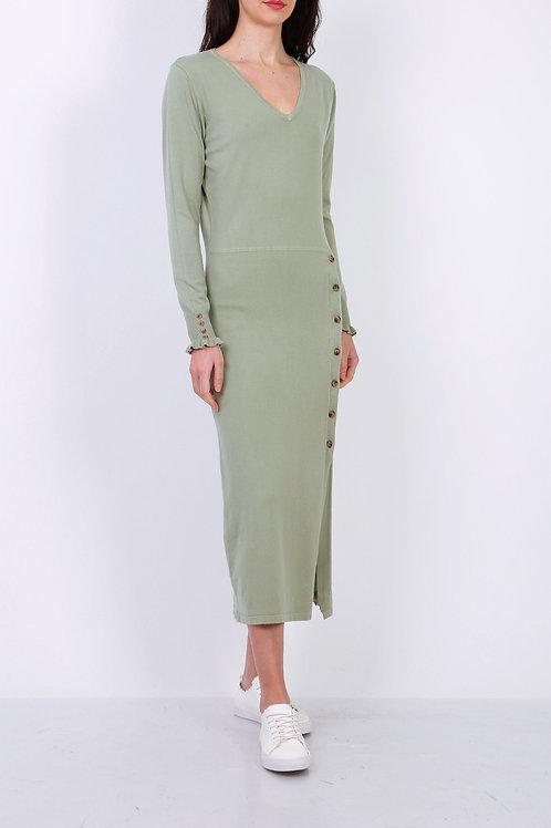 Lange tricot jurk