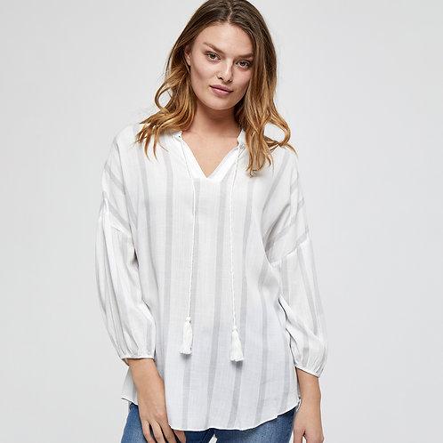 Witte hemdsbloes met V-hals Peppercorn