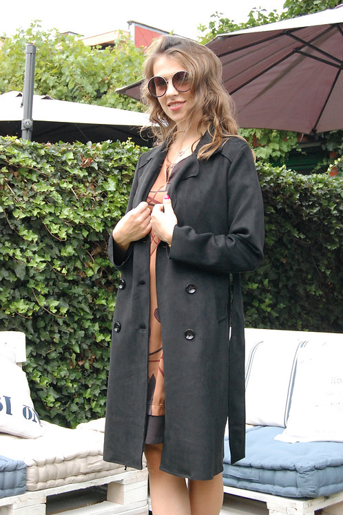 Lange mantel in velours